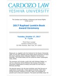 2017 Raphael Lemkin Book Award Ceremony