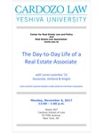The Day-To-Day Life of a Real Estate Associate