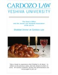 Shabbat Dinner at Cardozo Law by Cardozo Dean's Office and Jewish Law Students Association (JLSA)