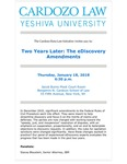 Two Years Later: The eDiscovery Amendments by Cardozo Data Law Initiative (CDLI)