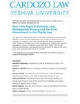 New York Right of Publicity Law: Reimagining Privacy and the First Amendment in the Digital Age