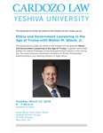 Ethics and Government Lawyering in the Age of Trump With Walter M. Shaub, Jr.