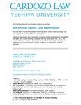 6th Annual Sports Law Symposium
