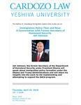Immigration Policy Then and Now: A Conversation With Former Secretary of Homeland Security  Jeh Johnson