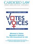 Women's Votes Women's Voices: The 19th Amendment at 100