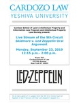 Live Stream of the 9th Circuit Skidmore V. Led Zeppelin Oral Argument