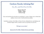 Cardozo Faculty Advising Fair