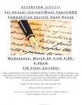 1st Annual Journal/Moot Court/ADR Competition Society Open House