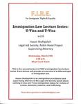 Immigration Law Lecture Series: U-Visa & T-Visa