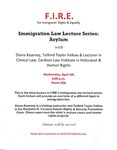 Immigration Law Lecture Series: Asylum