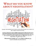 What Do You Know About Negotiation? by Cardozo ADR Competition Honor Society and Southeast Asian Law Students Association (SALSA)