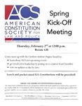 ACS Spring Kick-off Meeting