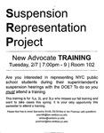 Suspension Representation Project: New Advocate Training