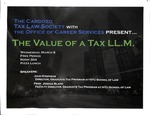 The Value of a Tax LL.M.