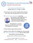 Cardozo Law Democrats Spring General Body Meeting