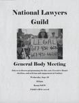 General Body Meeting of the National Lawyers Guild by National Lawyers Guild