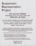 Suspension Representation Project, New Advocate TRAINING