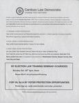 NY Election Law Training Seminar @ Cardozo by Cardozo Law Democrats