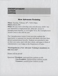 New Advocate Training by Unemployment Action Center