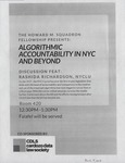 Algorithmic Accountability in NYC and Beyond by Cardozo Data Law Society (CDLS)