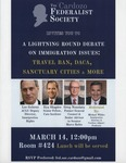 A Lightening Round Debate on Immigration Issues: Travel Ban, DACA, Sanctuary Cities & More by Cardozo Federalist Society