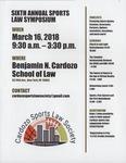 Sixth Annual Sports Law Symposium