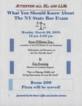 What You Should Know About the NY State Bar Exam by Dean's Office and Student Services