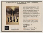 1945 (Movie Screening) by Cardozo Indie Film Clinic and Cardozo Law Institute in Holocaust and Human Rights