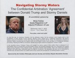 Navigating Story Waters, The Confidential Arbitration 'Agreement' between Donald Trump and Stormy Daniels by Cardozo Philosophy and Law Society and Cardozo Dispute Resolution Society