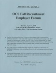 OCS Fall Recruitment Employer Forum by Office of Career Services