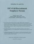 OCS Fall Recruitment Employer Forum