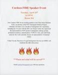 Cardozo FIRE Speaker Event