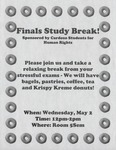 Finals Study Break! by Cardozo Students for Human Rights