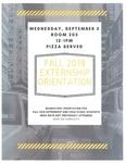Fall 2018 Externship Orientation