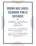 Brown Bag Lunch: Colorado Public Defender