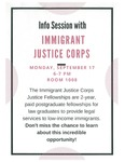 Info Session with Immigrant Justice Corps