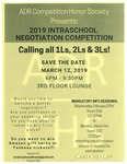 2019 Intraschool Negotiation Competition