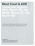 Moot Court & ADR Tryout Info Session