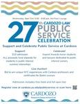27th Cardozo Law Public Service Celebration by Benjamin N. Cardozo School of Law