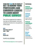 Get to Know Your Professors and Cardozo Leaders to Learn About Public Service