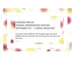 Cardozo APALSA Gerneral Information Meeting
