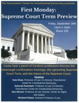 First Monday: Supreme Court Term Preview