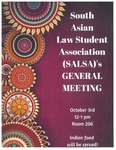 South Asian Law Student Association (SALSA) General Meeting