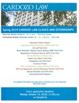 Spring 2019 Cardozo Law Clinics and Externships