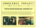 Innocence Project Clinic Application Deadline